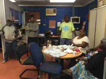 WCE Steering Group Members visiting Yuendumu
