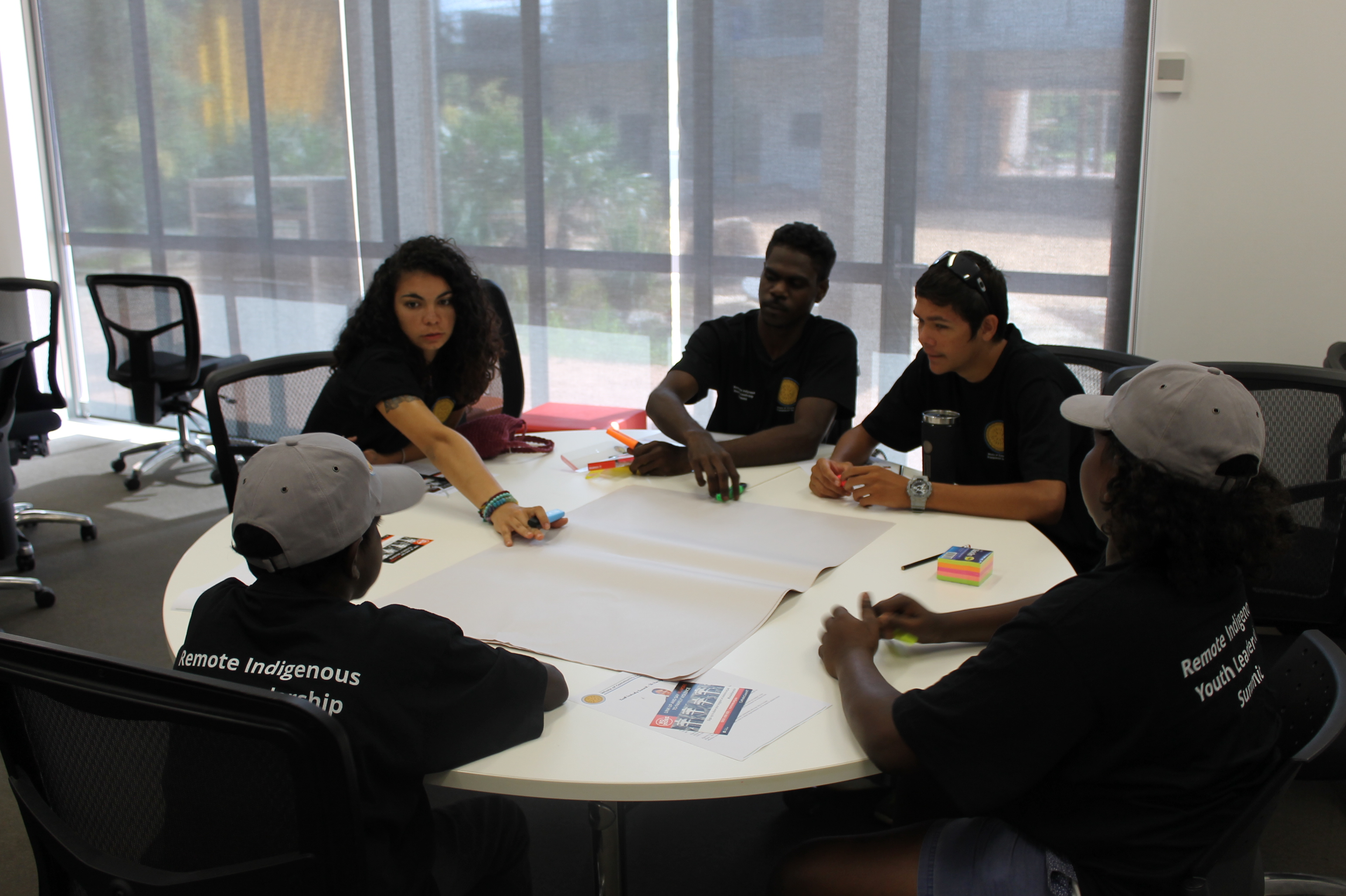 Students from Maningrida participating to CDU Remote Indigenous Youth Leadership Summit - November 2016<br>