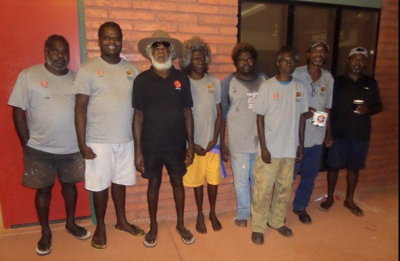 Some of the male ARPNet researchers working in Maningrida<br>